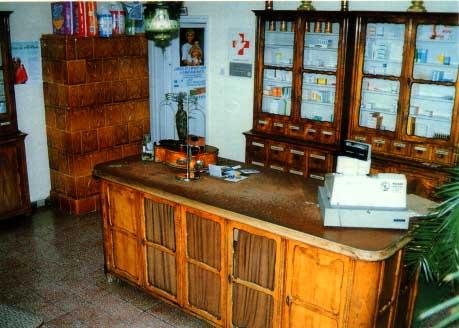 Zomba: a gyógyszertár belseje