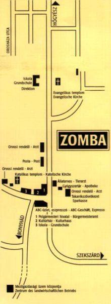 Zomba: térkép